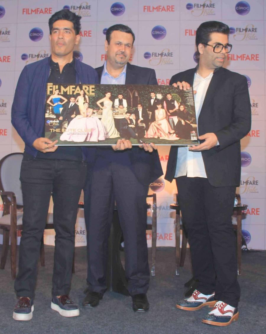 Filmfare Glamour & Style Awards,Karan Johar,Manish Malhotra,Cover launch,photos