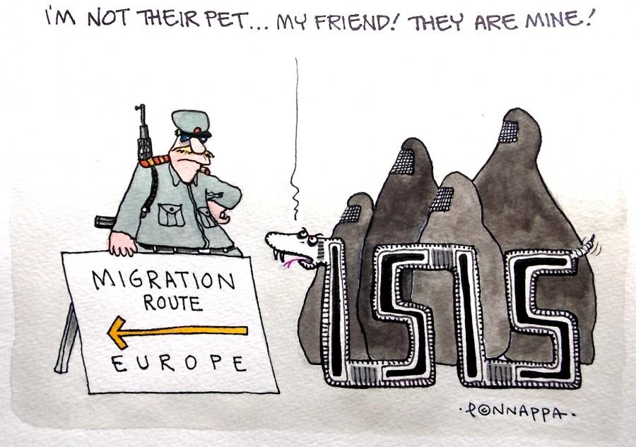 IBTimes Cartoon,Ponappa cartoon,March cartoon,ISIS cartoon