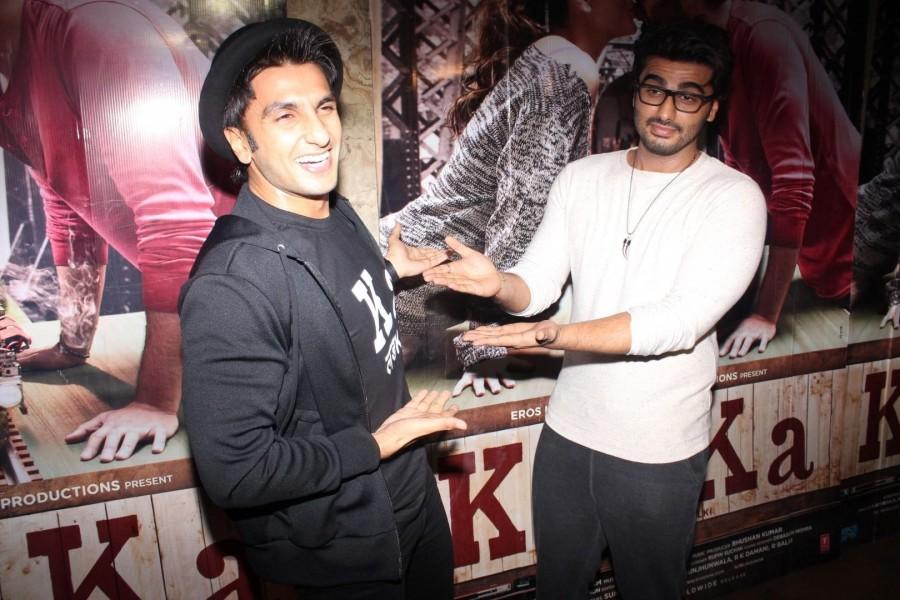 Ki & Ka Special Screening,Ki & Ka,Special Screening of Ki & Ka,bollywood movie Ki & Ka,Arjun Kapoor,Ranveer Singh,Arjun Kapoor at Ki & Ka Special Screening,Ranveer Singh at Ki & Ka Special Screening,Ki & Ka Special Screening pi