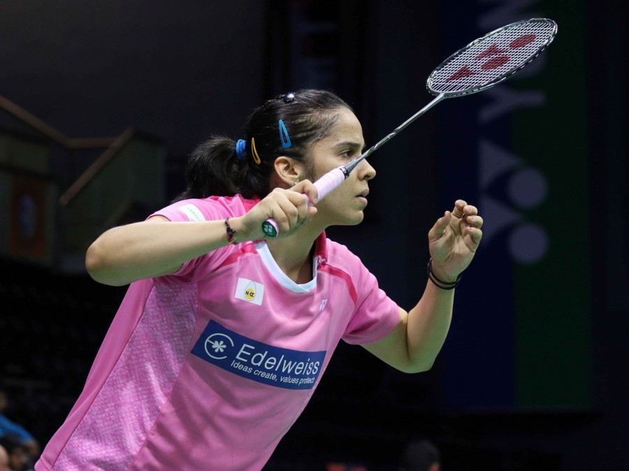 Saina Nehwal,badminton star Saina Nehwal,India's premier badminton star Saina Nehwal,Saina Nehwal enters India Open semis,India Open semis,P.V. Sindhu,India Open Superseries,Siri Fort Sports,Saina enters India Open semis