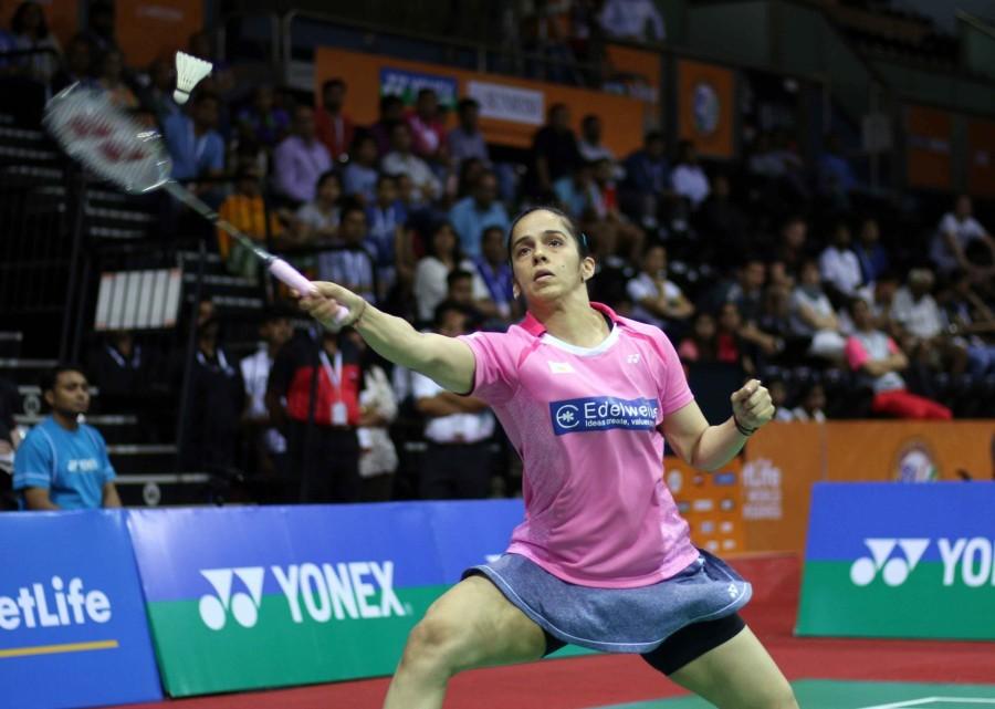 Saina Nehwal,badminton star Saina Nehwal,India's premier badminton star Saina Nehwal,Saina Nehwal enters India Open semis,India Open semis,P.V. Sindhu,India Open Superseries,Siri Fort Sports,Saina enters India Open semis