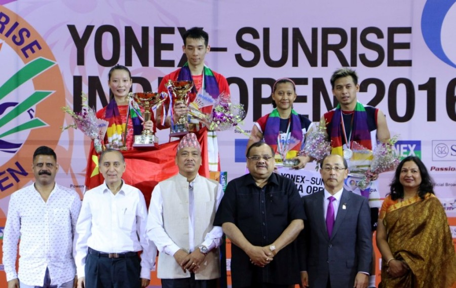 Badminton,India Open,Kento Momota and Thailand's Ratchanok Intanon,Kento Momota,Ratchanok Intanon,India Open 2016