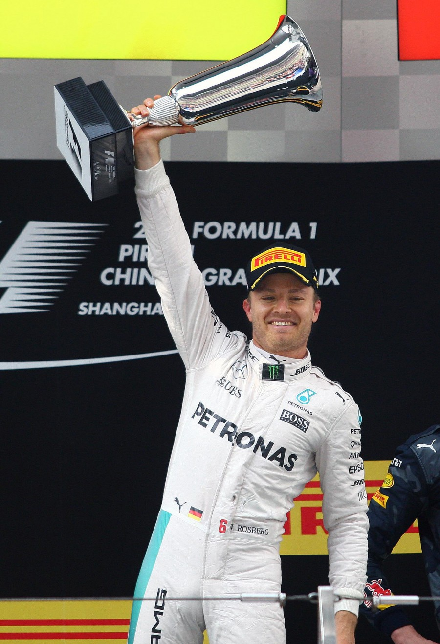 Nico Rosberg,Mercedes' racing driver Nico Rosberg,Mercedes driver Nico Rosberg,China Grand Prix,Nico Rosberg celebrates sixth F1 victory,F1 victory