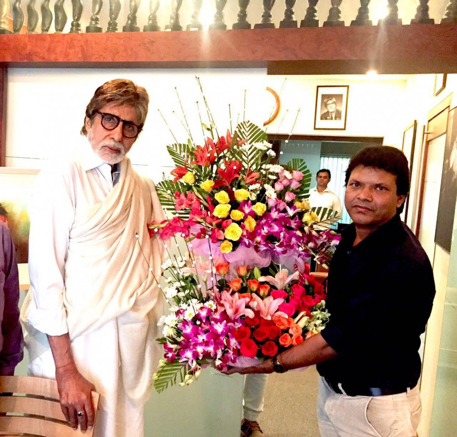 Amitabh Bachchan,Amitabh Bachchan launches Vikrant Studios,Vikrant Studios,Rajesh Shringarpure,Pratap sarnaik,Joe Rajan,DJ Sheizwood,Shweta Khanduri,Mohit Madan,Vikrant Post Production Studios launched at Andheri with Amitabh Bachchan's Blessings,Ami