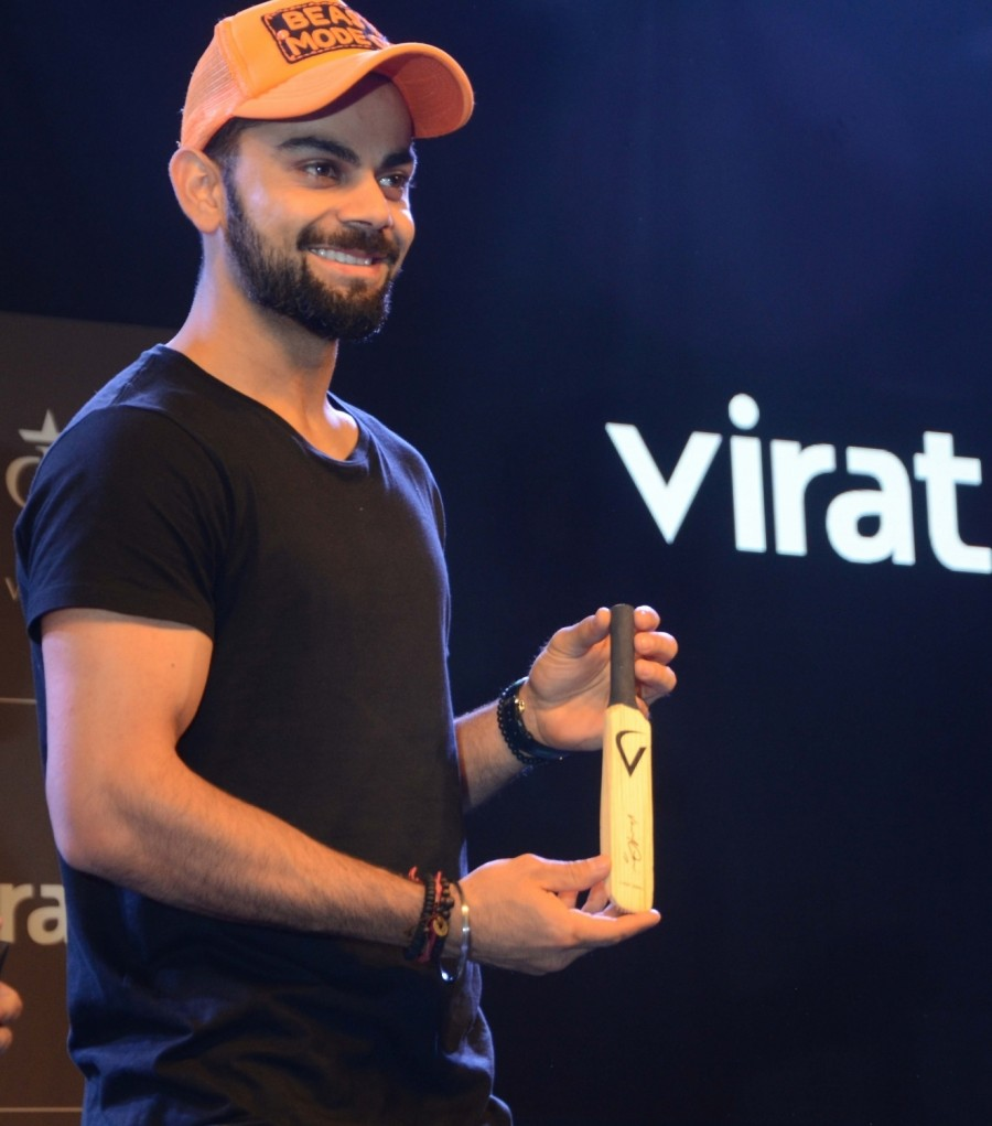Virat Kohli,VIrat Fan Box,Virat Kohli at the launch of 'VIrat Fan Box',Virat Kohli launches VIrat Fan Box,Indian Cricketer Virat Kohli,Cricket player Virat Kohli,actress Virat Kohli,Virat Kohli pics,Virat Kohli images,Virat Kohli stills,Virat Ko