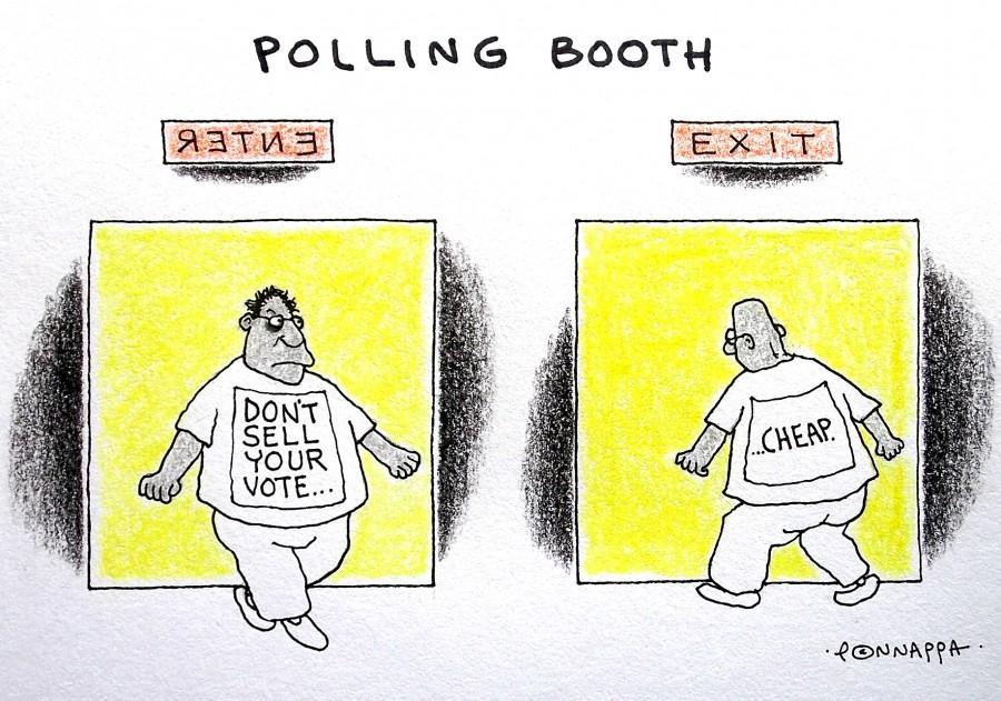 IBTimes Cartoon,Ponnappa  cartoon,vote cartoon,election cartoon