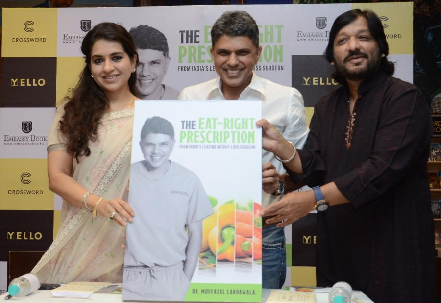 The Eat Right Prescription,The Eat Right Prescription book launch,Roop Kumar Rathod,Shaina NC,Dr Muffazal Lokdawala,Salman Khan