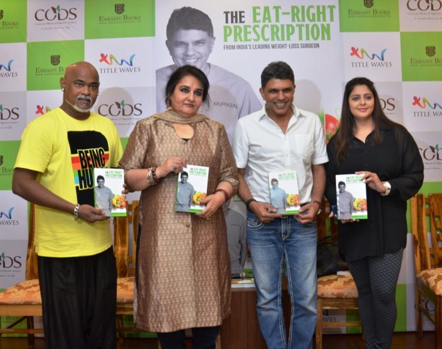 Reena Roy,Vinod Kambli,Anu Malik,Dr. Muffazal Lakdawala,Anjali Tendulkar,Nagma,Rakhi Vijan,Dr Muffazal Lakdawala's Book Launch,Eat Right Prescription