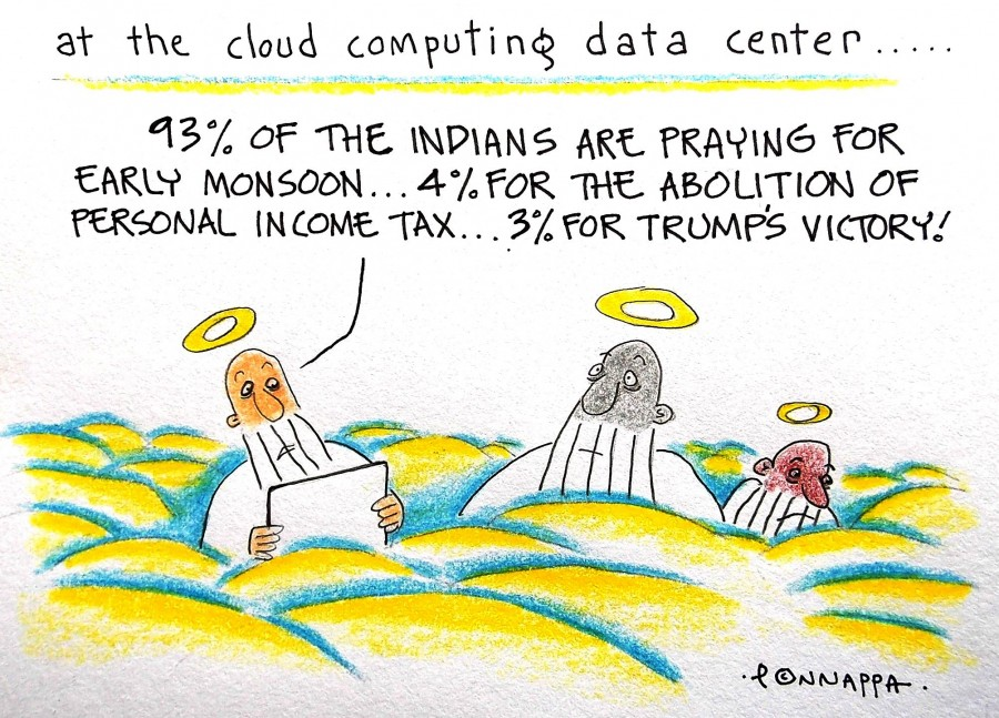 Cloud compting,monsoon,personal income tax,abolition,donald trump,US Presidential election