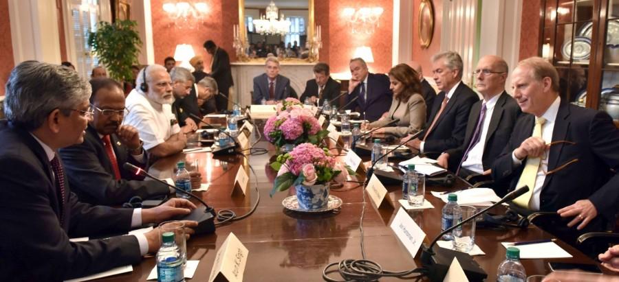 Narendra Modi,PM Narendra Modi,Prime Minister Narendra Modi,Narendra Modi with American think tanks,Narendra Modi in US,Modi in US,US think tanks