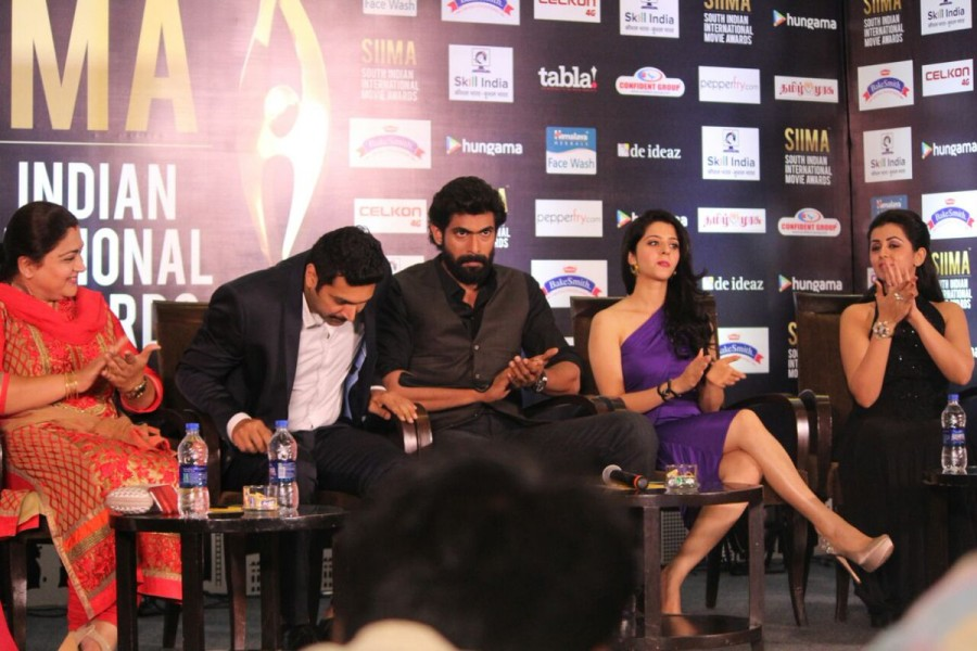 SIIMA,SIIMA awards,SIIMA 2016 press meet,SIIMA 2016,Jayam Ravi,Devi Sri Prasad,Rana Daggubati,Kushboo Sundar,Vedhika,Brinda Prasad,Nikki Galrani,South Indian International Movie Awards,South Indian International Movie Awards 2016,SIIMA 2016 nomination lis