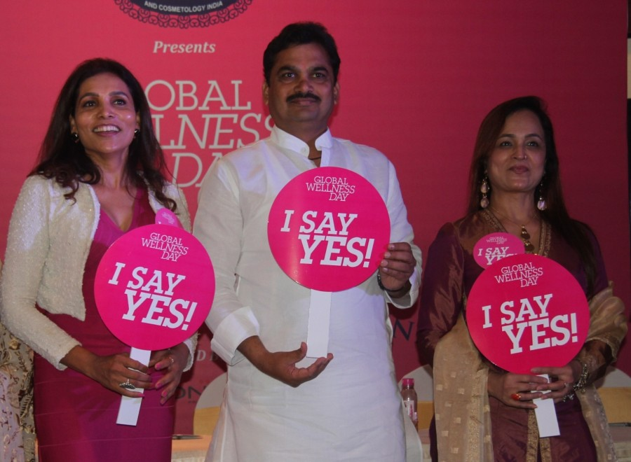 Global Wellness Day event,Vinod Kambli,Ram Shinde,Smita Thackeray,Rekha Chaudhari,Shibani Kashyap,Meghna Shah,Aditya Pratap Singh,Maya Paranjape,Wellness entrepreneurs JC Kapur,Sangram Birje,Seema Gopuskar