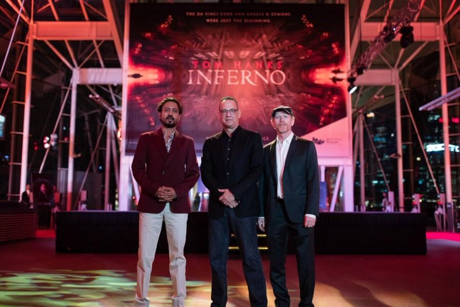 Irrfan Khan,Tom Hanks,Ron Howard,Inferno,Red Carpet for 'Inferno',Inferno red carpet in Singapore,Inferno red carpet