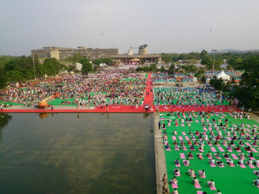 International Yoga Day,International Yoga Day 2016,International Yoga Day rehearsal,Yoga Day rehearsal,Chandigarh Yoga day rehearsal,Narendra Modi,PM Narendra Modi,modi,International Yoga Day celebrations,International Yoga Day pics,International Yoga Day