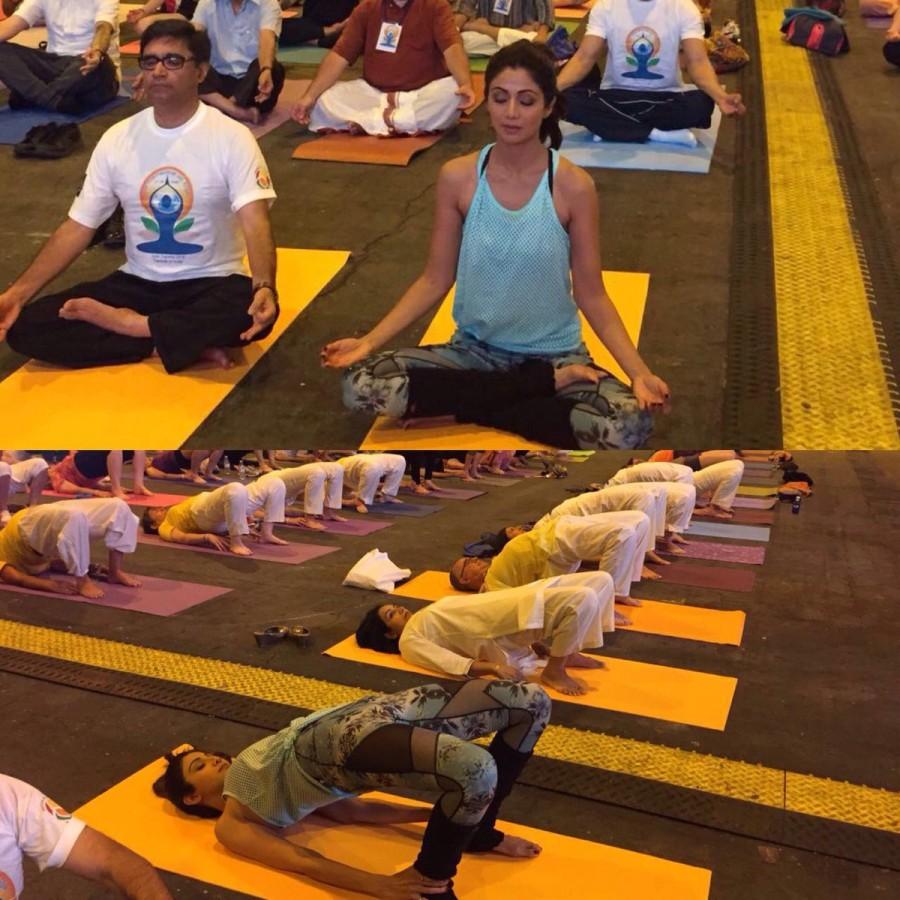 Shilpa Shetty,Shilpa Shetty yoga,Shilpa Shetty at IIFA 2016,IIFA 2016,Shilpa Shetty dazzles with Yoga,Yoga,Yoga at IIFA