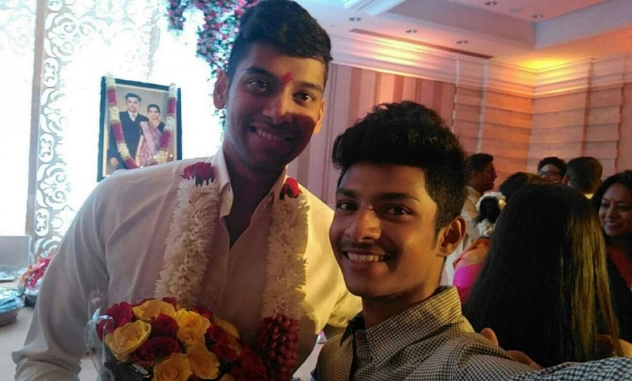 Chiyaan Vikram,Vikram,vikram daughter engagement,Karunanidhi grandson,Karunanidhi's great grandson,Karunanidhi,Vikram daughter,Vikram daughter marriage,Vikram daughter wedding
