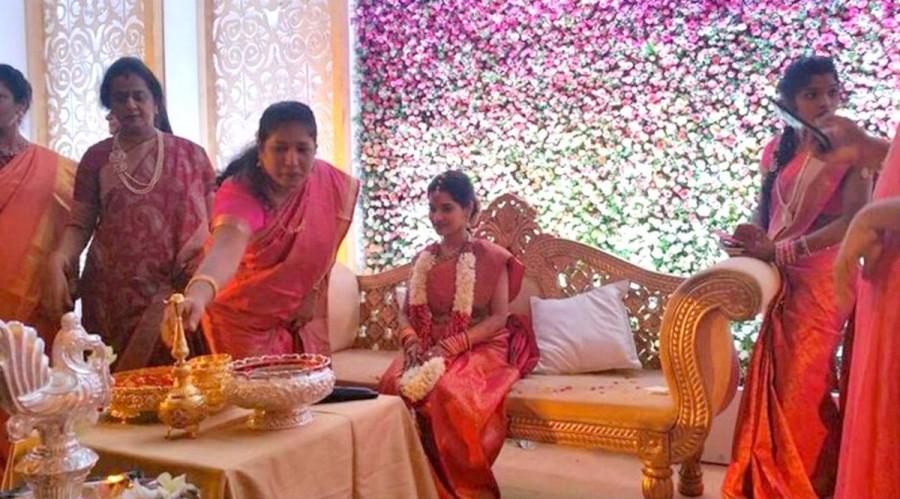 Chiyaan Vikram,Vikram,vikram daughter engagement,Karunanidhi grandson,Karunanidhi's great grandson,Karunanidhi,Vikram daughter,Vikram daughter marriage,Vikram daughter wedding