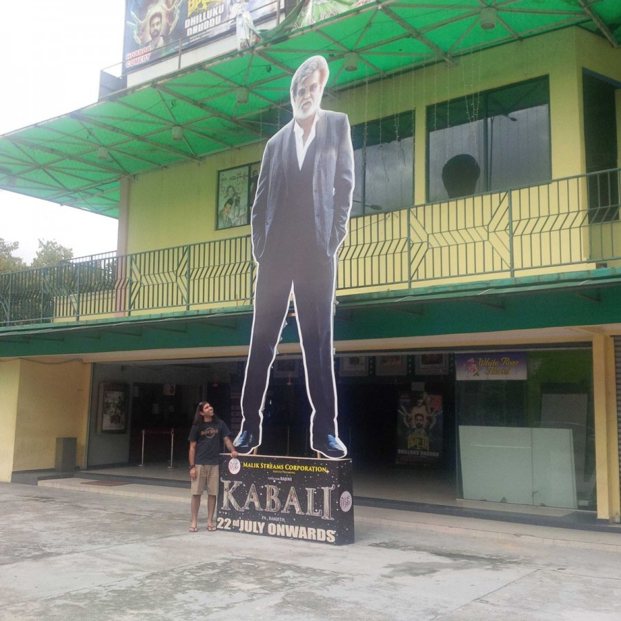 Rajinikanth,Kabali Cutouts around the world,Kabali,Kabali Cutouts,Superstar Rajinikanth,Rajinikanth's Kabali,Kabali Cutout,Kabali celebrations,Rajinikanth movie,Kabali fever
