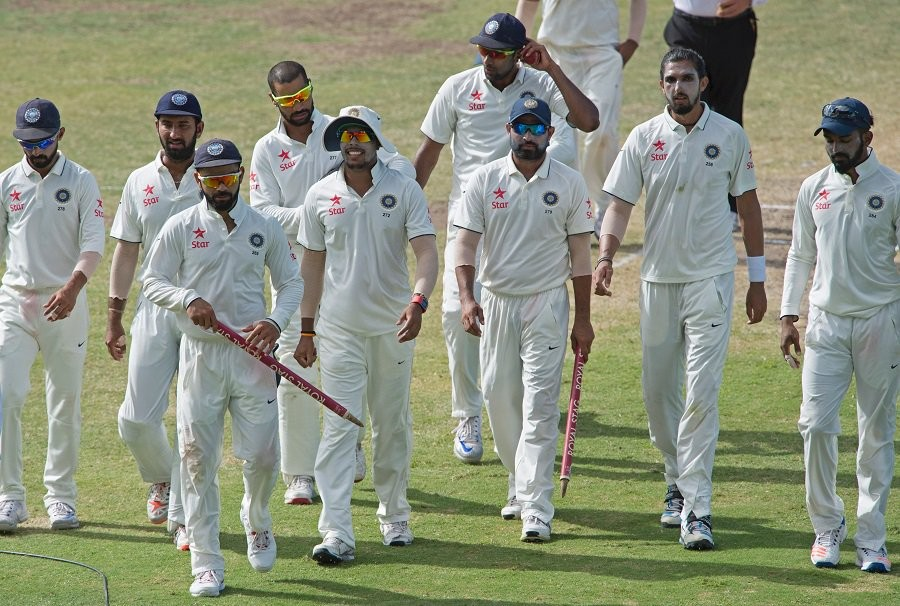 India beat West Indies,India vs West Indies,India defeated West Indies,Sir Vivian Richards Cricket Stadium,Ravichandran Ashwin,Virat Kohli,Kohli,India beat West Indies by innings and 92 runs