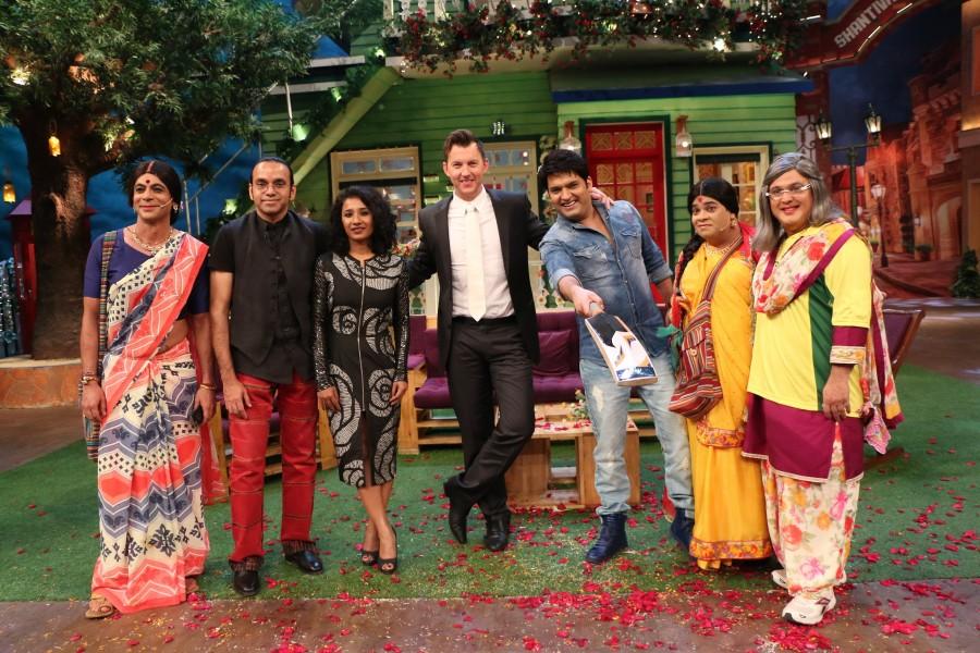 Brett Lee,The Kapil Sharma Show,Kapil Sharma Show,Brett Lee on the sets of The Kapil Sharma Show,Brett Lee on The Kapil Sharma Show,Tannishtha Chatterjee,Sony Entertainment Television