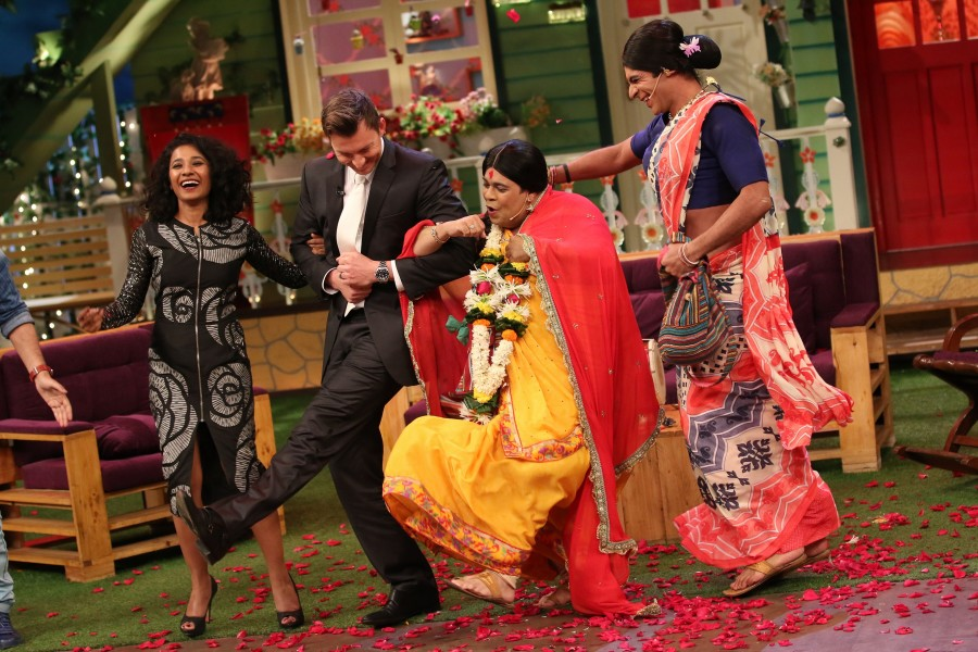 Brett Lee,The Kapil Sharma Show,Kapil Sharma Show,Brett Lee on the sets of The Kapil Sharma Show,Brett Lee on The Kapil Sharma Show,Tannishtha Chatterjee,Sony Entertainment Television