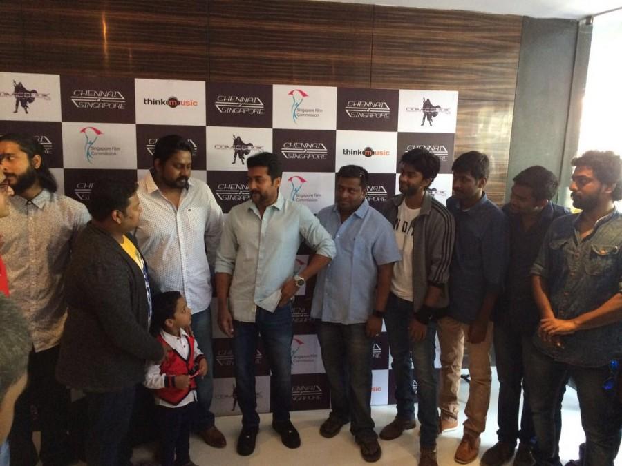 Chennai 2 Singapore,Chennai 2 Singapore audio launch,Chennai 2 Singapore music launch,Chennai 2 Singapore Trailer,Chennai 2 Singapore trailer launch,Suriya,Ghibran