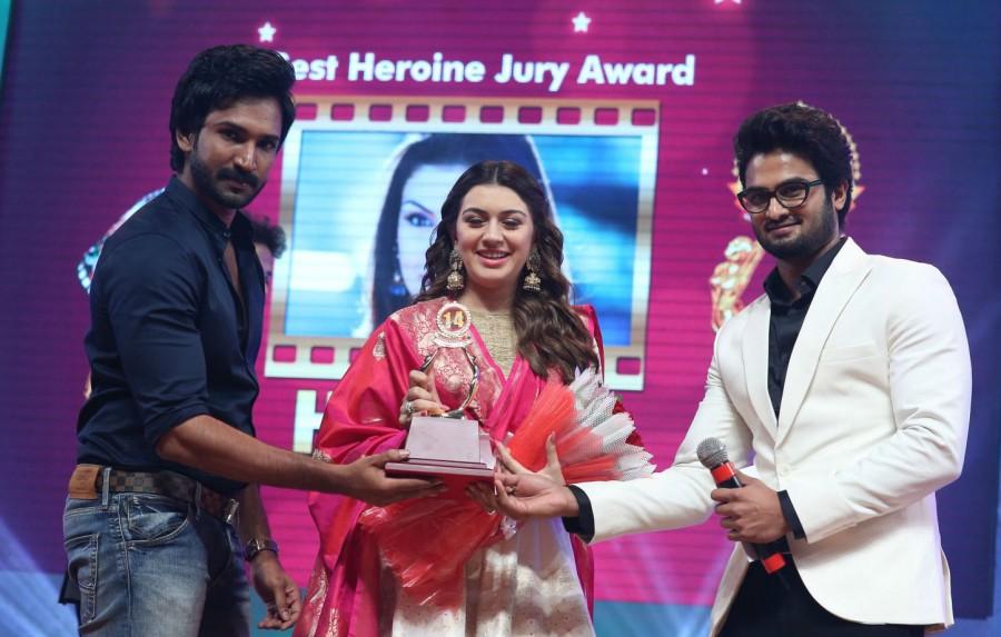Santosham Film Awards,Santosham Film Awards 2016,Rana Daggubati,Hansika,Akhil Akkineni,Hansika Motwani,Arun Vijay,Allu Sirish,Pranitha Subhash,Allu Aravind,Santosham Film Awards pics,Santosham Film Awards images