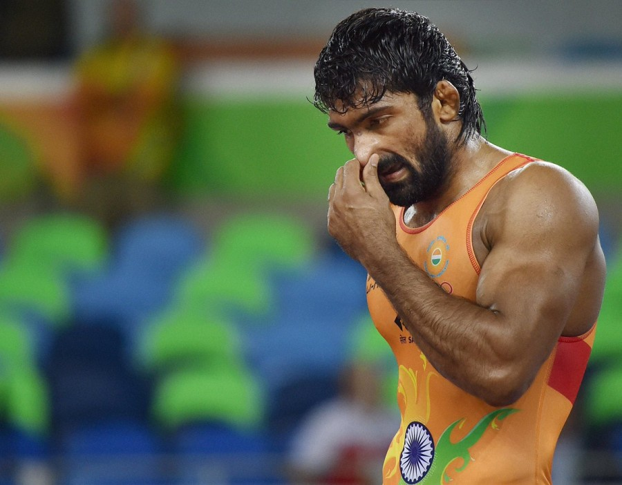 Yogeshwar Dutt.,Indian wrestler Yogeshwar Dutt,wrestler Yogeshwar Dutt,Mandakhnaran Ganzorig,Rio Olympics,Rio Olympics 2016,Rio Olympics pics