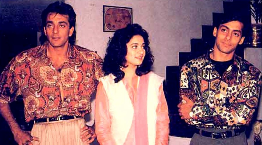 Sanjay Dutt,Salman Khan,Sanjay Dutt and Salman Khan,Saajan,25 years of Saajan,Saajan 25 years,Salman Khan movie,Sanjay Dutt movie