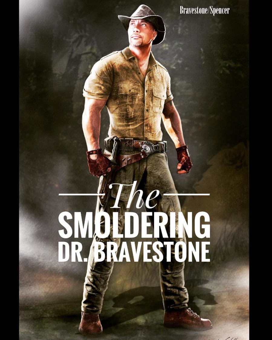 Dwayne Johnson,The Rock,'The Smoldering' Dr. Bravestone first look poster,'The Smoldering' Dr. Bravestone poster,'The Smoldering' Dr. Bravestone first look