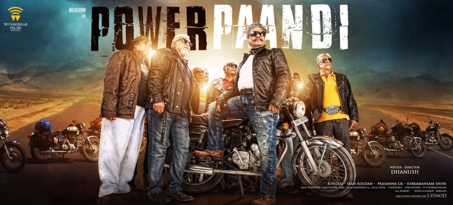 Dhanush,Power Paandi First Look poster,Power Paandi First Look,Power Paandi poster,Power Paandi,Rajkiran,Prasanna