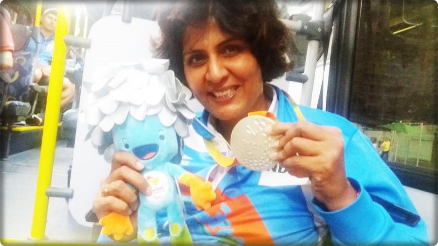 Rio Paralympics,Rio Paralympics 2016,2016 Rio Paralympics,Deepa Malik,Deepa Malik bags silver,Deepa Malik wins silver,Deepa Malik shotput,Paralympics Games,Rio Paralympics Games