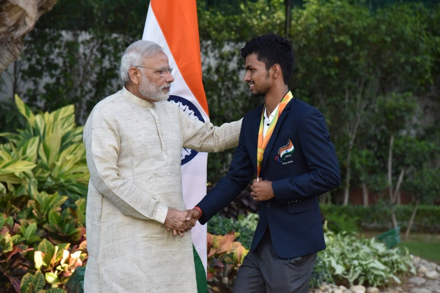 Narendra Modi,PM Narendra Modi,Narendra Modi Rio Paralympics medallists,Rio Paralympics medallists,Rio Paralympics,India's Rio Paralympics medallists
