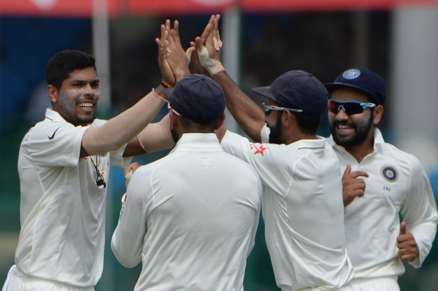 New Zealand vs India,India vs New Zealand,India vs New Zealand Test series,New Zealand all out for 262,India leads by 56 runs,Ravichandran Ashwin,Ravindra Jadeja