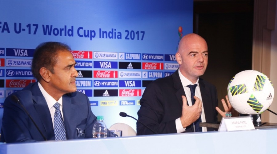 FIFA President Gianni Infantino,Gianni Infantino,passionate giant of football,Indian Foitball,FIFA President,Mr. Gianni Infantino,Praful Patel