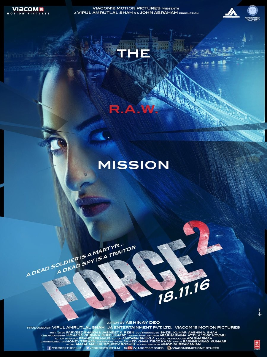 John Abraham,Force 2 first look poster,Force 2,Force 2 first look,Force 2 poster,Force 2 pics,Force 2 images,Force 2 photos,Force 2 stills,Force 2 pictures,Sonakshi Sinha,John Abraham and Sonakshi Sinha