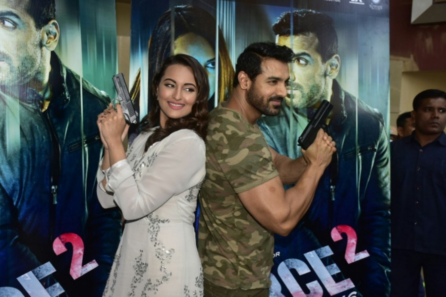John Abraham,Sonakshi Sinha,Force 2 trailer,Force 2 trailer launch,Force 2 trailer launch pics,Force 2 trailer launch images,Force 2 trailer launch photos,Force 2 trailer launch stills,Force 2 trailer launch pictures,Force 2,John Abraham and Sonakshi Sinh