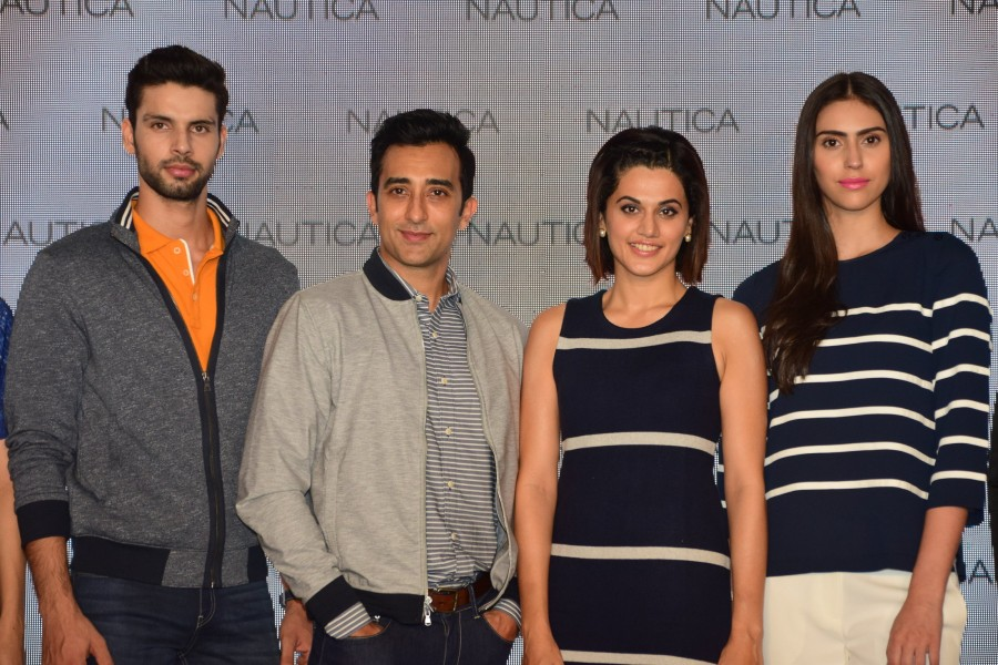 Rahul Khanna,Tapsee Pannu,Nautica launch,Nautica launch new collection,Tapsee Pannu and Rahul Khanna,Pink,Pink actress Tapsee Pannu