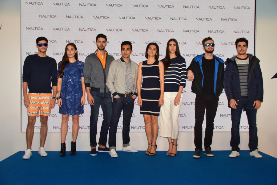 Rahul Khanna,Tapsee Pannu,Nautica launch,Nautica launch new collection,Tapsee Pannu and Rahul Khanna,Pink,Pink actress Tapsee Pannu