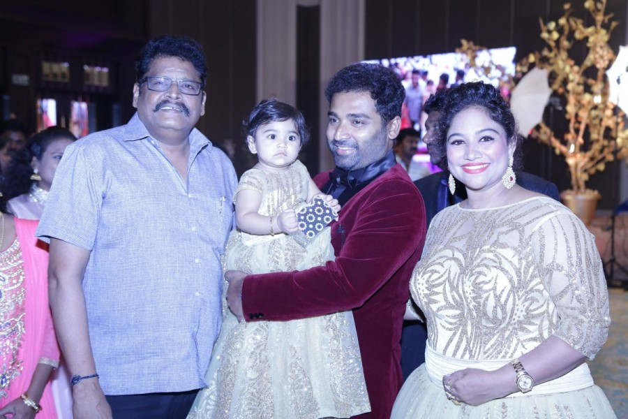 Dance Master Shobi daughter's 1st birthday celebration,Syamantakamani,Syamantakamani birthday celebrations,KS Ravikumar,Jyothika,Vignesh Shivan,Editor Mohan,Arun Vijay,Nassar,K. Bhagyaraj,Poornima Jayaram,Shanthanu,Keerthi