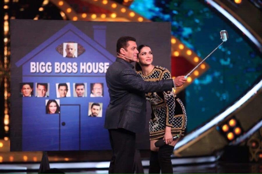 Deepika Padukone,Deepika Padukone and Salman Khan,Deepika Padukone with Salman Khan,Salman Khan and Deepika Padukone,Salman Khan with Deepika Padukone,Deepika Padukone at Bigg Boss 10,Bigg Boss 10,xXx: The Return of Xander Cage,xXx: The Return of Xander C