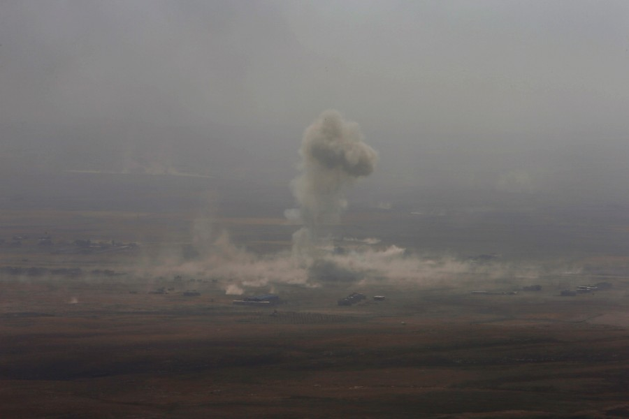 Battle for Mosul begins,Battle for Mosul,Islamic State,Iraqi forces,Iraqi city,IS begins,Mosul,Mosul Battle,gunfire and car bombs,Iraqi attack on Mosul begins