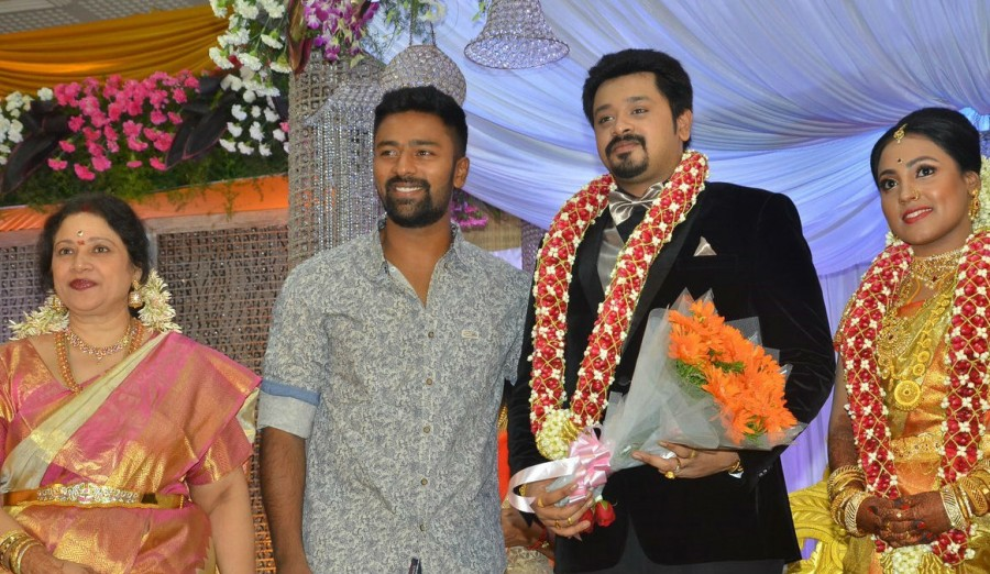 jyothika vishal shanthanu at jayachitra son amresh keerthi wedding