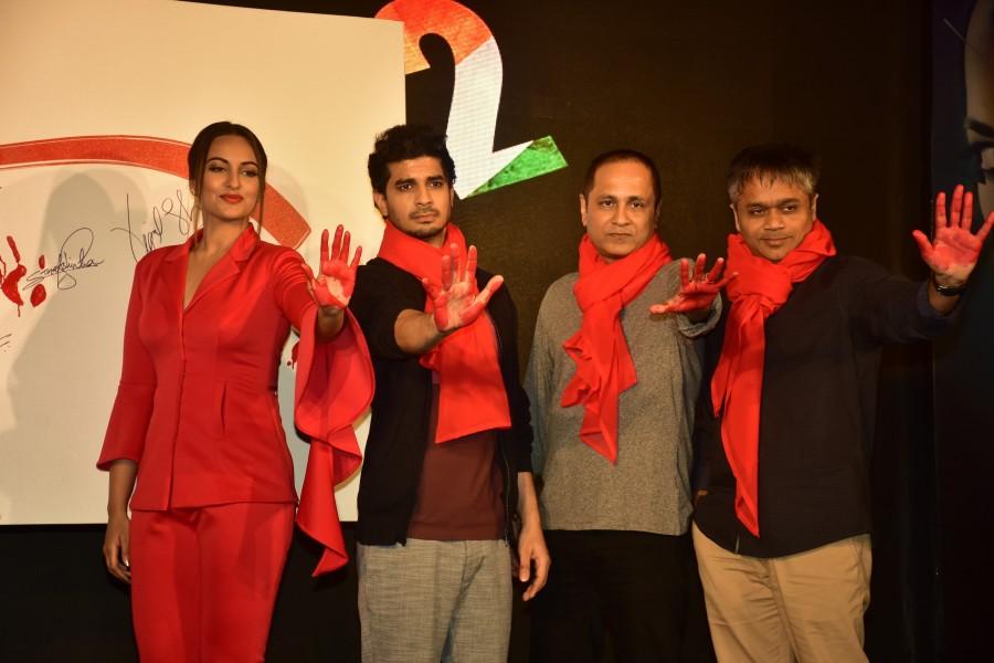 John Abraham,Sonakshi Sinha,Tahir Bhasin,Rang Lal,Rang Lal song launch,Rang Lal song,Force 2,bollywood movie Force 2,Rang Lal music launch,Rang Lal video
