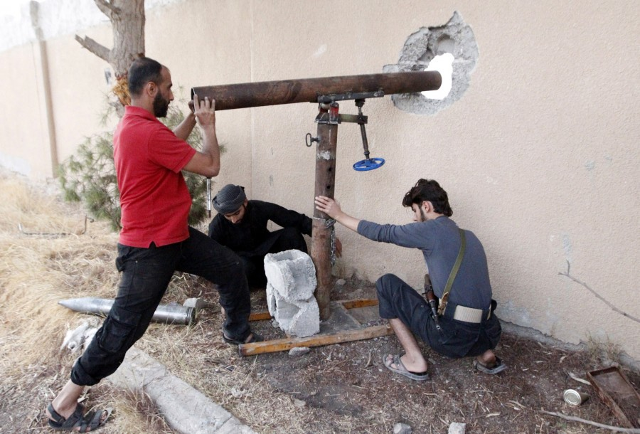 DIY weapons of Syria,Syria DIY weapons,Syrian tanks,Syrian missiles,Syrian mortars,Dahiyat al-Assad