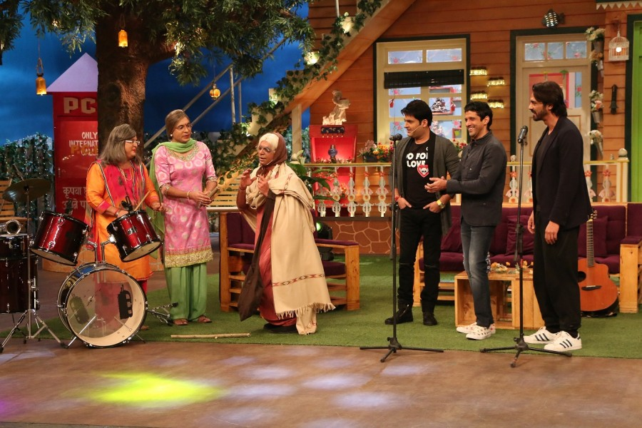 Arjun Rampal,Shraddha Kapoor,Farhan Akhtar,Rock On 2,Rock On 2 The Kapil Sharma Show,The Kapil Sharma Show,Rock On 2 promotion,Rock On 2 movie promotion,The Kapil Sharma Show pics,The Kapil Sharma Show images,The Kapil Sharma Show photos,The Kapil Sharma