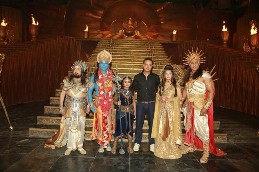 Karmaphal Data Shani,Karmaphal Data Shani on the sets,Salil Ankola,Juhi Parmar,debutant- Karthikeya Malviye,Diwakar Pundir,Gufi Paintal,Siddharth Kumar Tewary