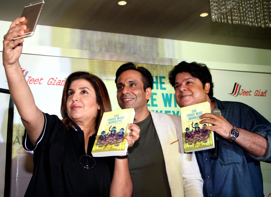 Farah Khan,The Three Wise Monkeys funny book,The Three Wise Monkeys,farah khan,jeet gian,sajid khan,The Three Wise Monkeys funny book pics,The Three Wise Monkeys funny book images,The Three Wise Monkeys funny book photos