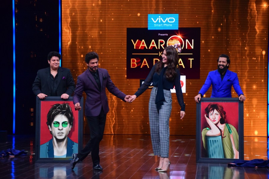 King Khan and Anushka Sharma,Shah Rukh Khan,Anushka Sharma,ZEE TV's Yaaron Ki Baraat,Yaaron Ki Baraat,King Khan,Riteish Deshmukh,Sajid Khan