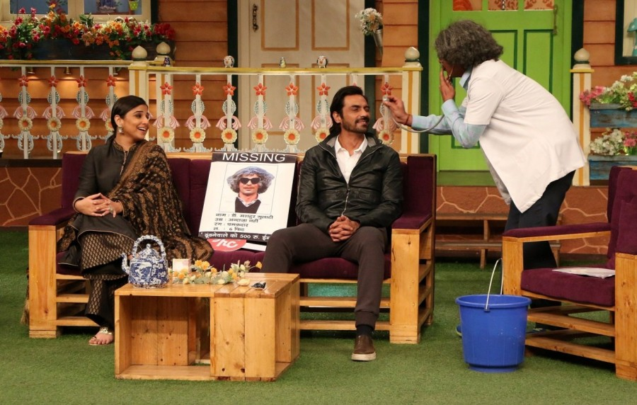 Vidya Balan,Arjun Rampal,Kahani 2,Kahani 2 on the sets of The Kapil Sharma Show,Kahani 2 on The Kapil Sharma Show,The Kapil Sharma Show,Kahani 2 promotion,Kahani 2 movie promotion,Kahani 2 movie promotion pics,Kahani 2 movie promotion images,Kahani 2 movi